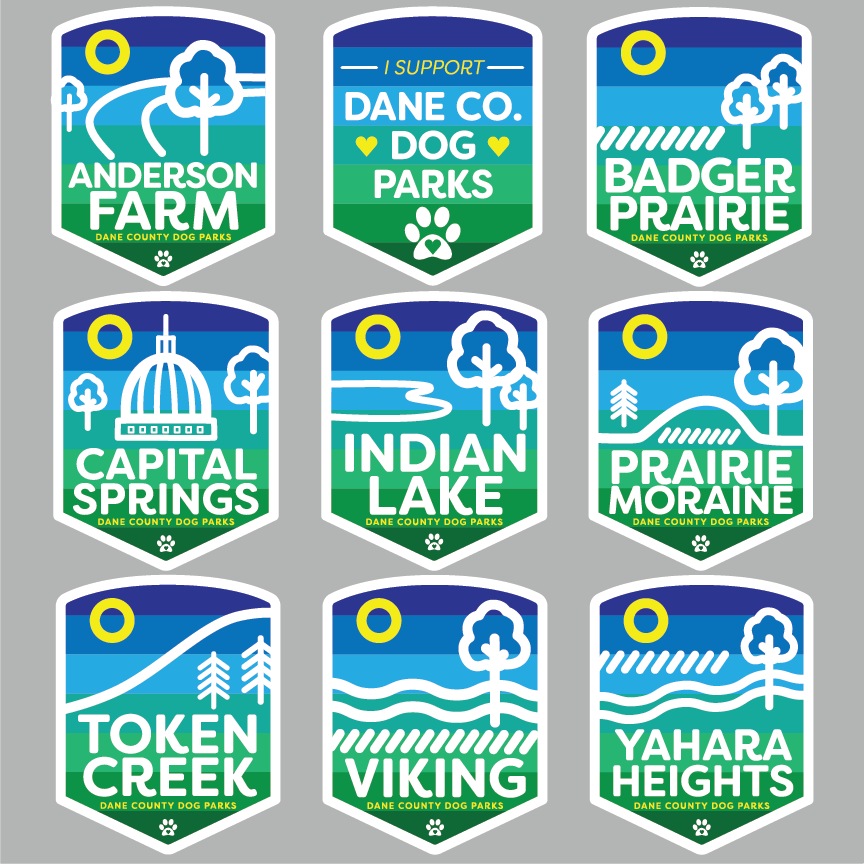 dane county dog park stickers